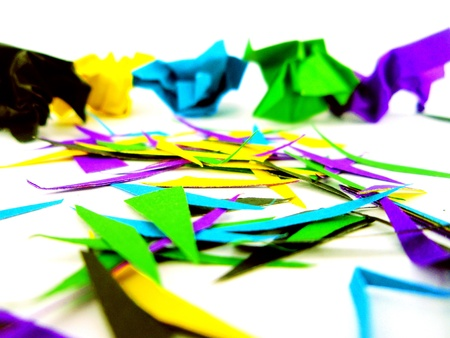 tinge: Colored paper
