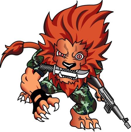 potent: Soldier Lion Stock Photo