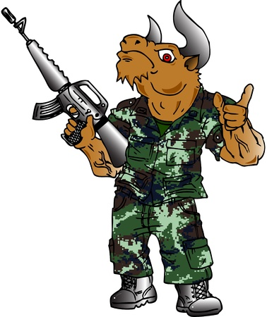 Soldier Bull Stock Photo - 14548557