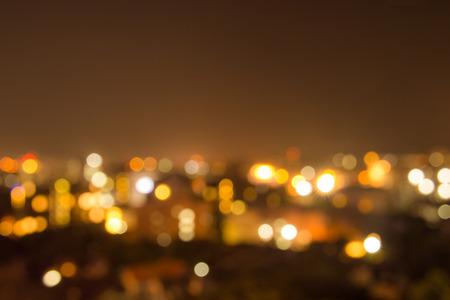 Bokeh background night light