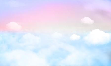 sky background and pastel color. EPS 10 Illustration
