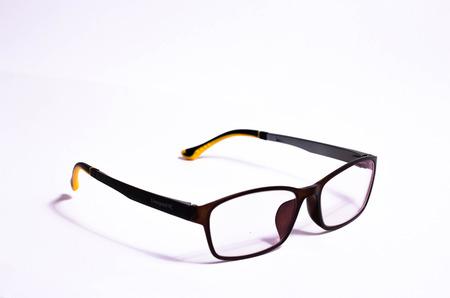 lenticular: Glasses on white  Stock Photo