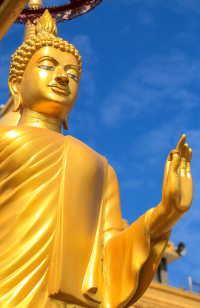 budda: The golden Budda with a mercy hand