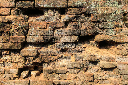 walling: The ancient brick wall in Thailand