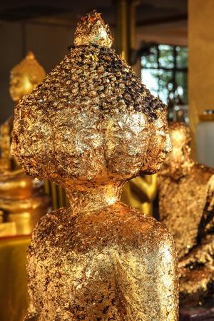 budda: The ten faces golden Budda  Stock Photo