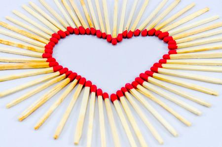 matches: el amor de partidos Foto de archivo