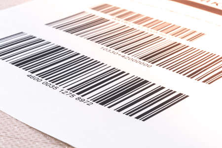 numbering: Closeup barcode tag with numbering