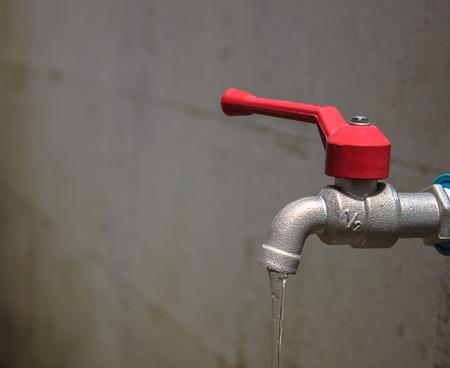 aluminium background: Aluminium water tap in Wall background.