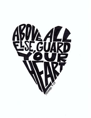 hand guard: Guard Your Heart Hand Drawn Lettering