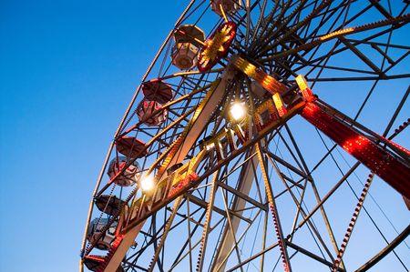 ferriswheel: Tivoli ferriswheel closeup Stock Photo