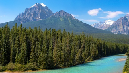 canadian wilderness as seen in banff national park