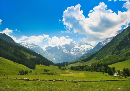romantic countryside as seen in austria photo
