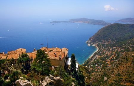 beautiful view on french riviera