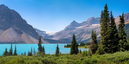 beautiful panoramic view of canadian nature landscape as seen in british columbia, canada. photo