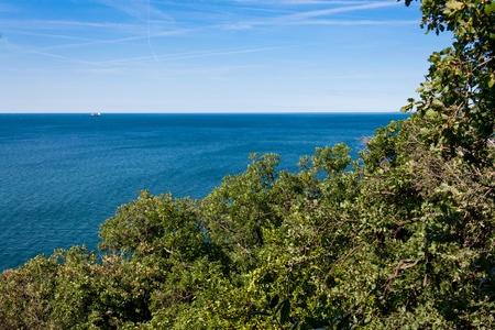 beautiful coastline of adriatic sea in italy, europe. photo