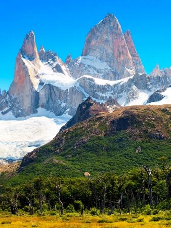 horcones: Paesaggio della natura con il Monte. Fitz Roy in Patagonia, Argentina Archivio Fotografico