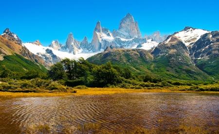 Beautiful Nature Landscape in Los Glaciares National Park, Patagonia, Argentina.