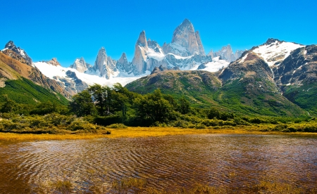 glaciares: Beautiful Nature Landscape in Los Glaciares National Park, Patagonia, Argentina.