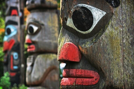 canadian pacific: Totem Poles in British Columbia, Canada