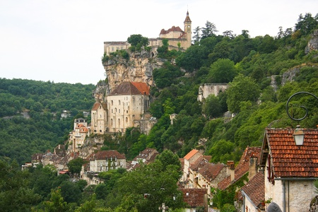 Beautiful city of Rocamadour in France  photo