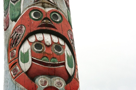 canada aboriginal: Totem Pole in British Columbia, Canada