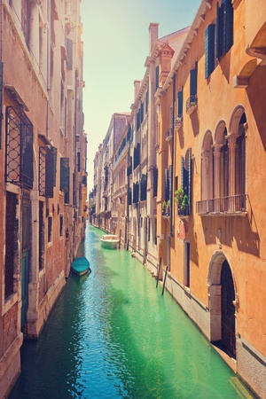 Scenic alley in Venice, Italy photo