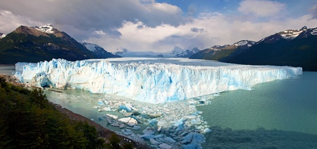 Perito Moreno Glacier Panorama as seen in Los Glaciares National Park, Patagonia, Argentina  photo