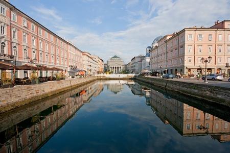 trieste: City center of Trieste, Italy Stock Photo