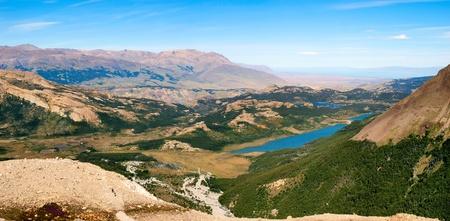 Beautiful nature landscape panorama in Los Glaciares National Park, Argentina