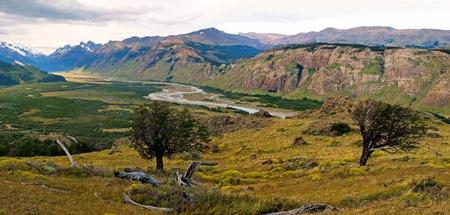 horcones: Bellissimo paesaggio panorama della natura in Parco Nazionale Los Glaciares, Argentina