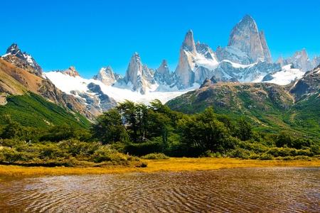 Paisaje Naturaleza hermosa en Parque Nacional Los Glaciares, Patagonia, Argentina.