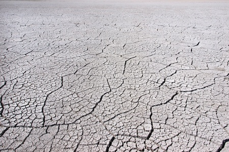 Cracked dry soil photo