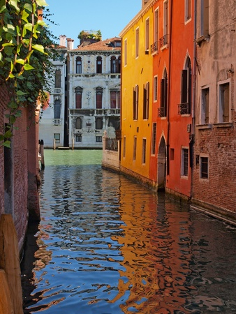 Beautiful alley in Venice, Italy photo