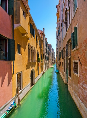 canal house: Scenic alley in Venice, Italy