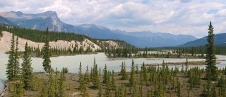 Athabasca River in Jasper National Park, Alberta, Canada photo