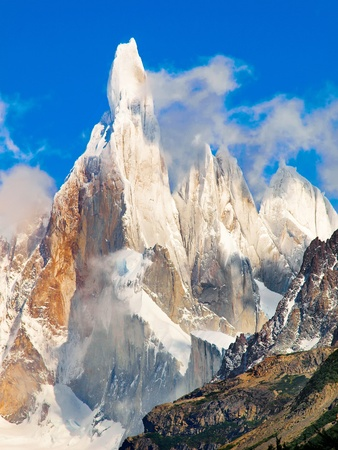 glaciares: Cerro Torre summit in Los Glaciares National Park, Argentina, South America Stock Photo