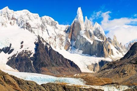 los glaciares: Cerro Torre nel Parco Nazionale Los Glaciares, Argentina, Sud America