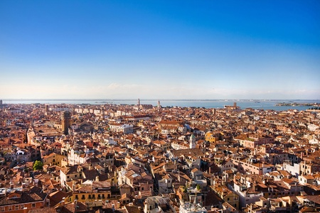 Aerial view of Venice, Italy photo