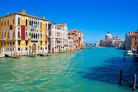 colorful lantern: Famous Canal Grande in Venice, Italy Stock Photo