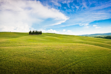 Scenic Tuscany landscape, Val d Orcia, Italy