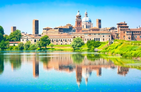Medieval city of Mantua in Lombardy, Italy 新聞圖片