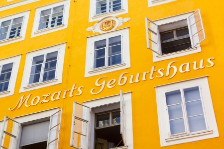 amadeus: Birthplace of famous Austrian composer Wolfgang Amadeus Mozart in Salzburg, Austria Editorial