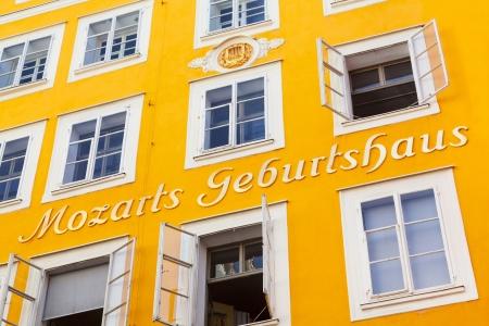 amadeus mozart: Lugar de nacimiento del famoso compositor austr�aco Wolfgang Amadeus Mozart en Salzburgo, Austria