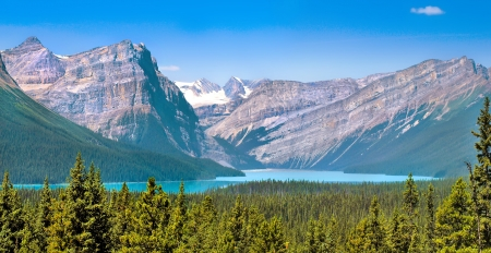 banff national park: Canadian wilderness with Rocky Mountains in Jasper National Park, Alberta, Canada