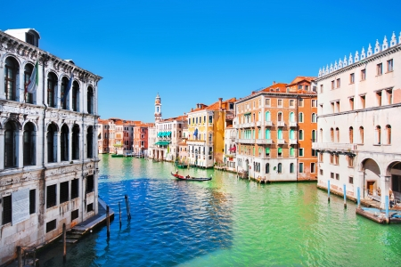 rialto bridge: Famous Canal Grande in Venice, Italy as seen from Rialto Bridge