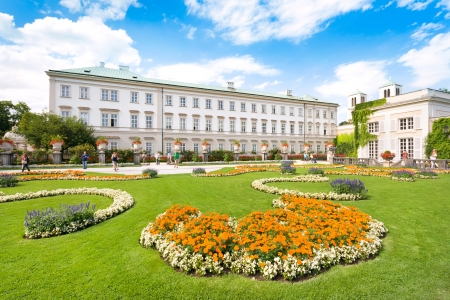 Famous Schloss Mirabell with Mirabellgarten in Salzburg, Austria Stock Photo - 17356391