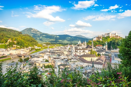 Beautiful view of the city of Salzburg, Austria Stock Photo - 17471250