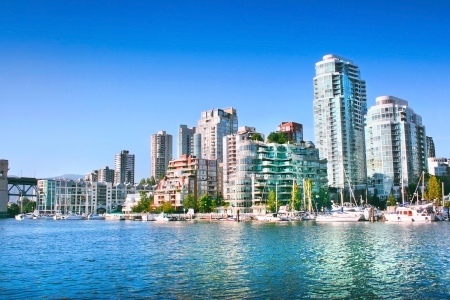 Vancouver downtown skyline at False Creek, British Columbia, Canada photo