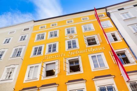 amadeus mozart: Birthplace of famous composer Wolfgang Amadeus Mozart in Salzburg, Austria