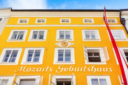 amadeus: Birthplace of famous composer Wolfgang Amadeus Mozart in Salzburg, Austria